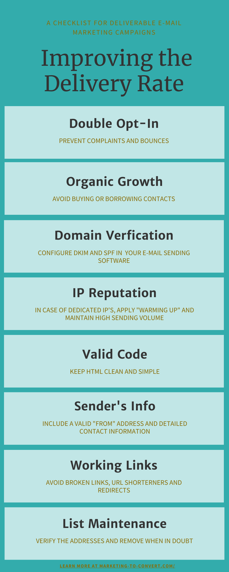 email deliverability 8 steps infographic